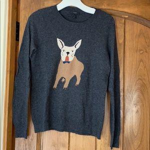 Jcrew Frenchie Dog Sweater